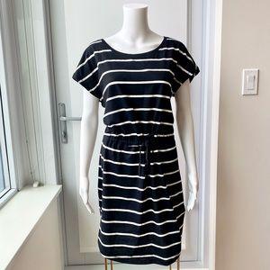 ONLY Black & White Striped Cotton Dress